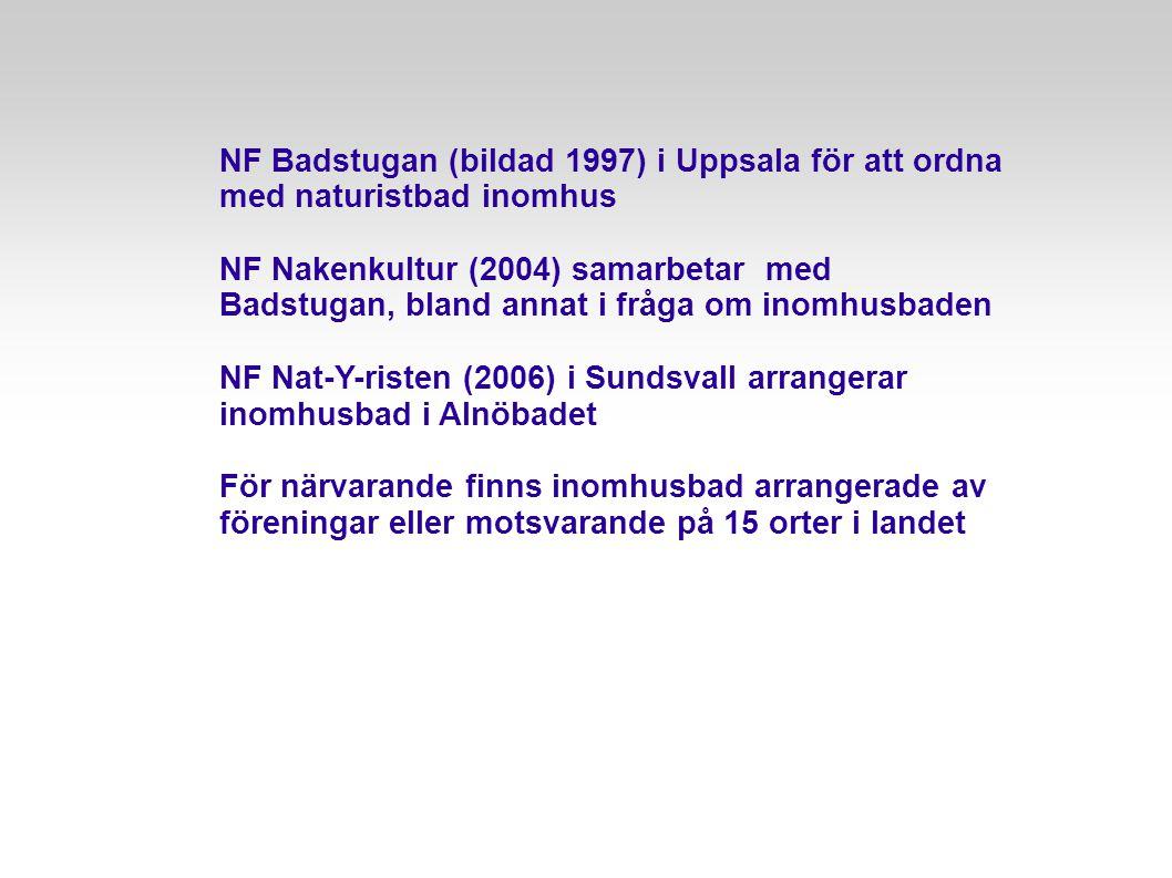 NF Badstugan (bildad 1997) i Uppsala för att ordna med naturistbad inomhus