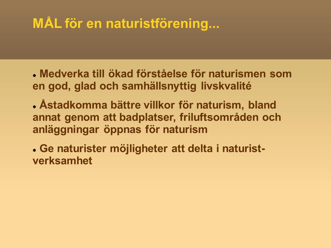 MÅL för en naturistförening...