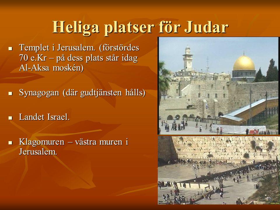 Heliga platser för Judar