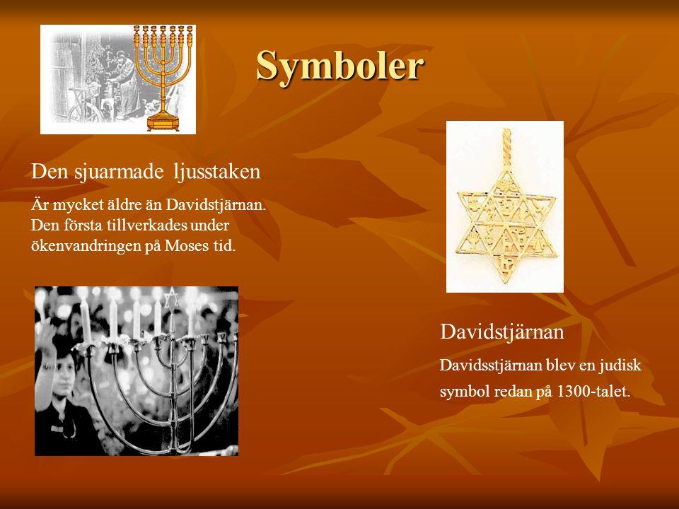 Symboler Den sjuarmade ljusstaken Davidstjärnan
