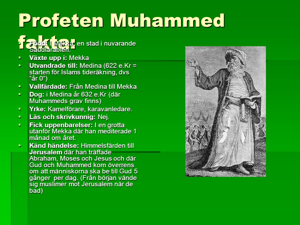 Profeten Muhammed fakta: