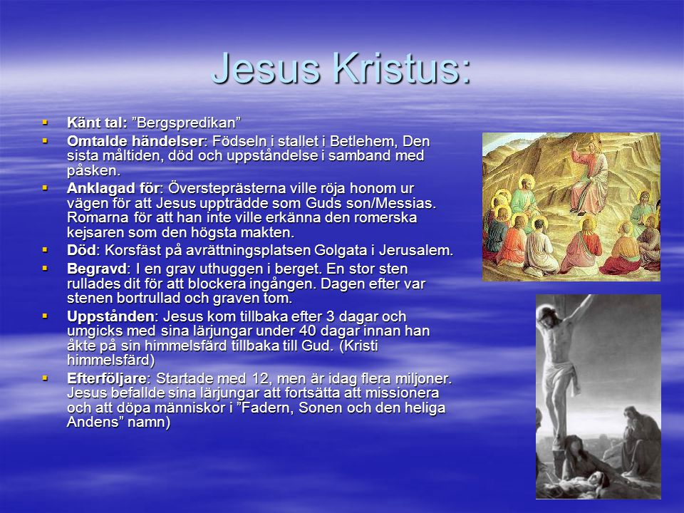 Jesus Kristus: Känt tal: Bergspredikan