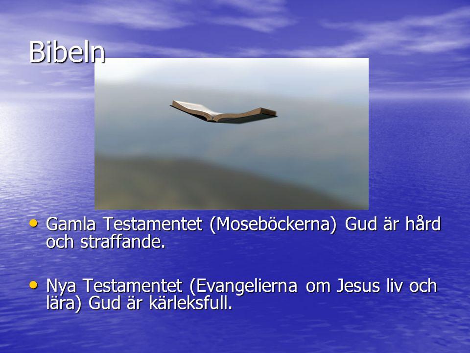 Bibeln Gamla Testamentet (Moseböckerna) Gud är hård och straffande.