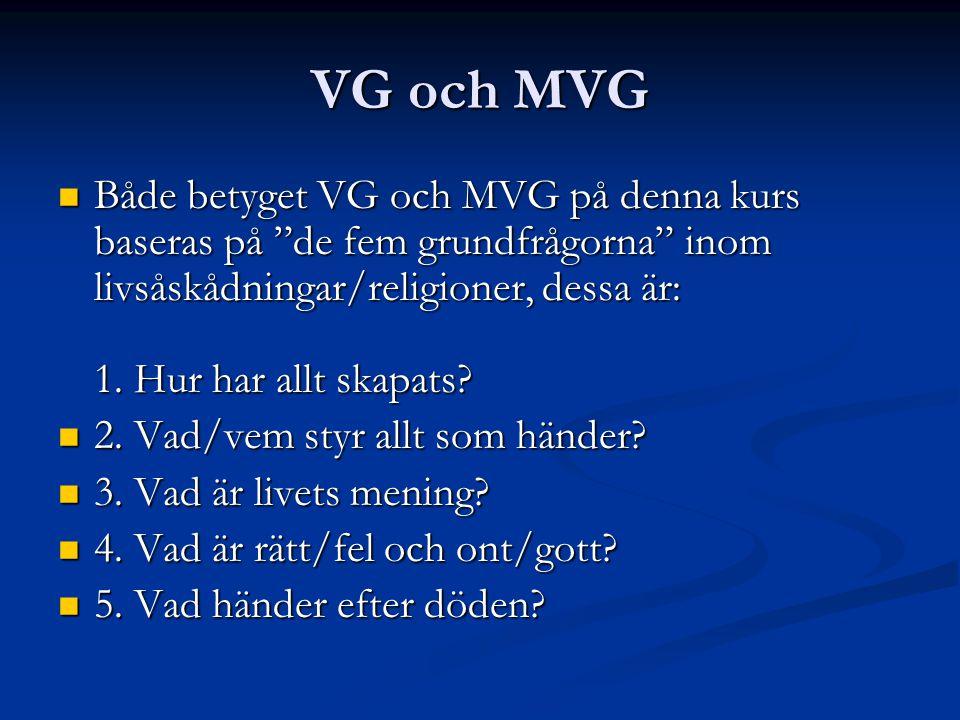 VG och MVG