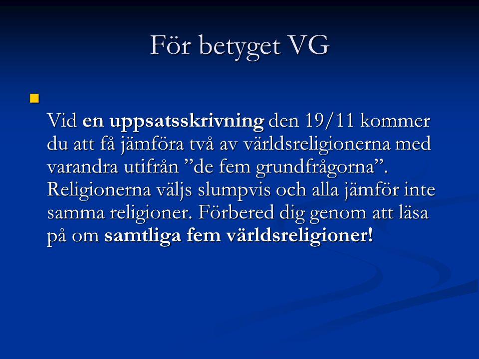 För betyget VG