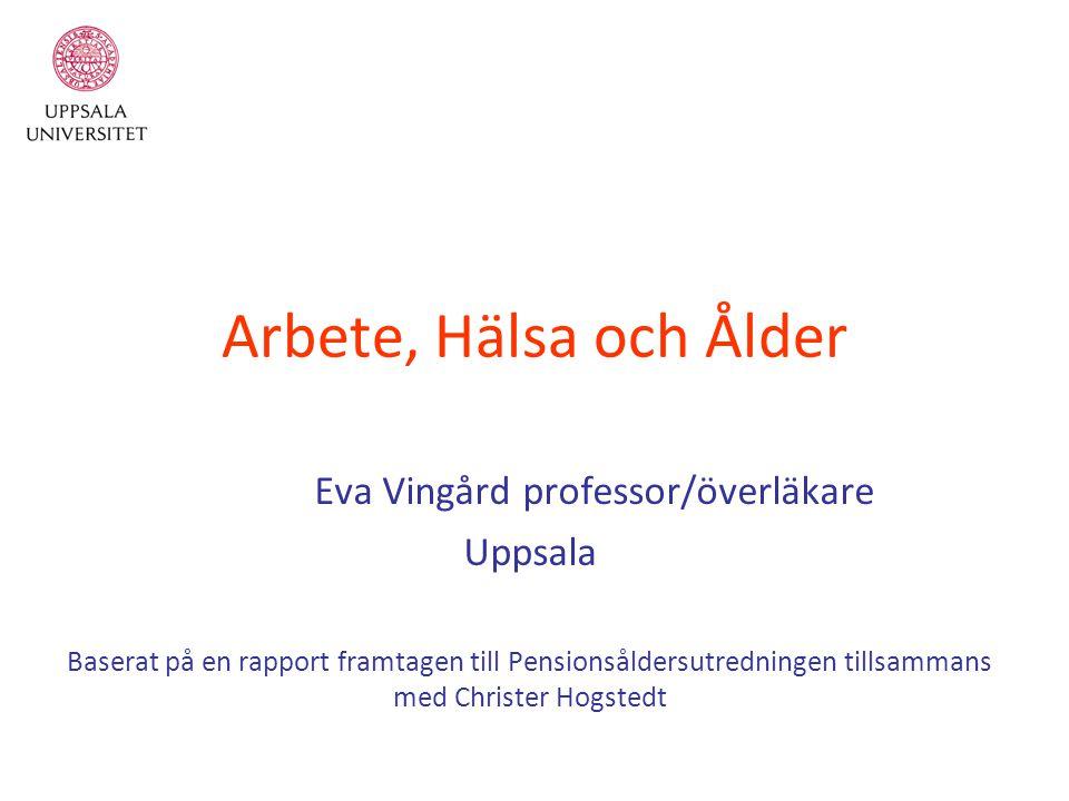 Eva Vingård professor/överläkare
