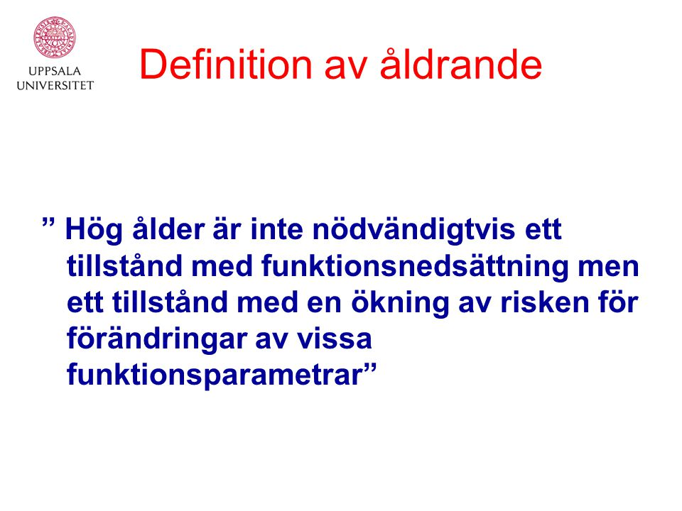 Definition av åldrande