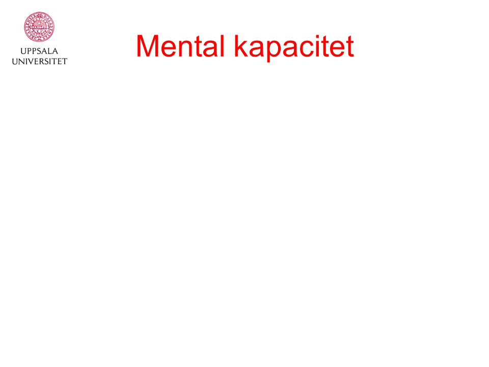 Mental kapacitet