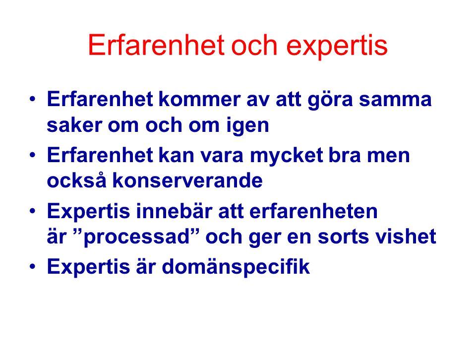 Erfarenhet och expertis