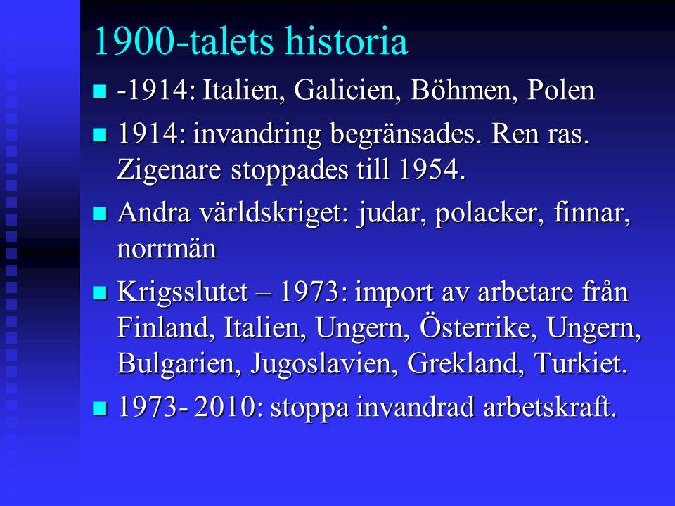 1900-talets historia -1914: Italien, Galicien, Böhmen, Polen