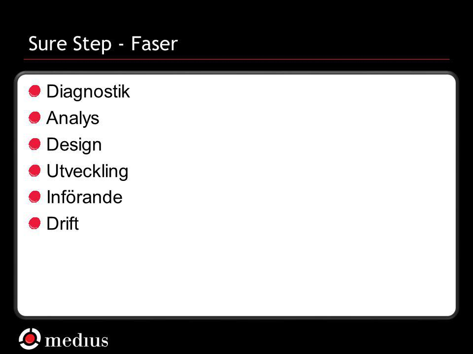 Sure Step - Faser Diagnostik Analys Design Utveckling Införande Drift