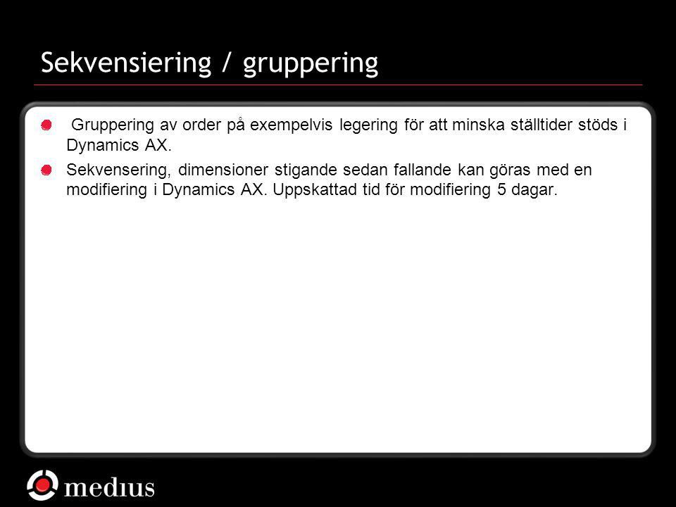 Sekvensiering / gruppering