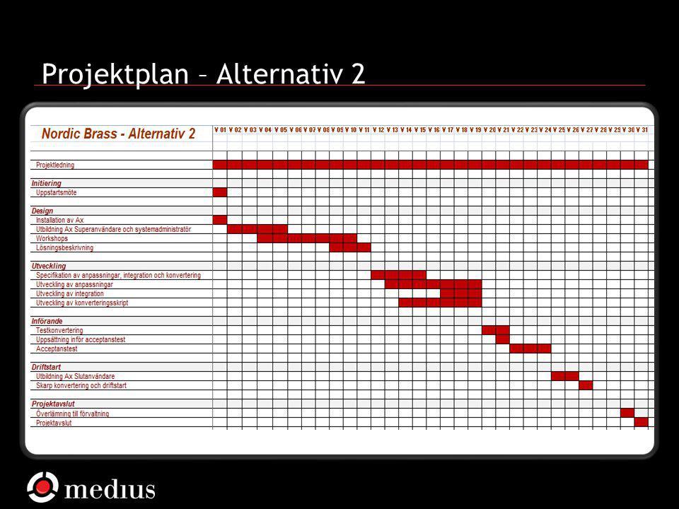 Projektplan – Alternativ 2
