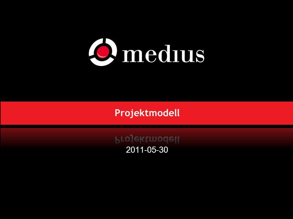 Projektmodell 2011-05-30 Behöver ändra citatet, det ska gälla hela Medius 8