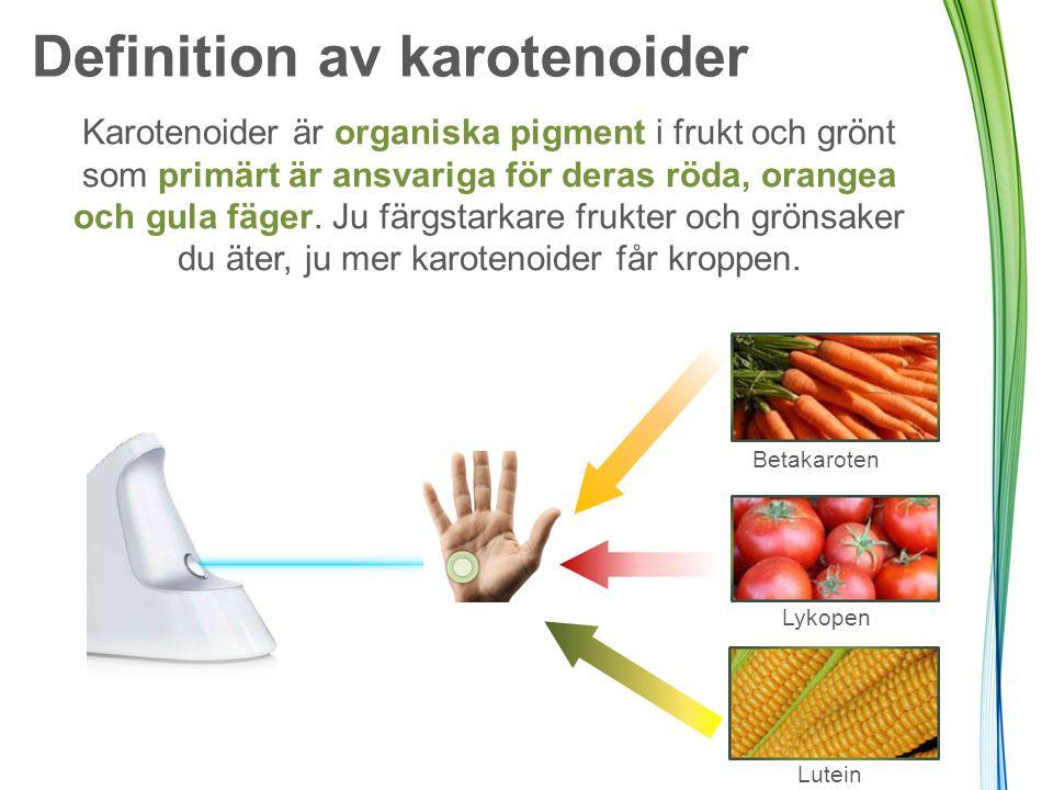 Definition av karotenoider