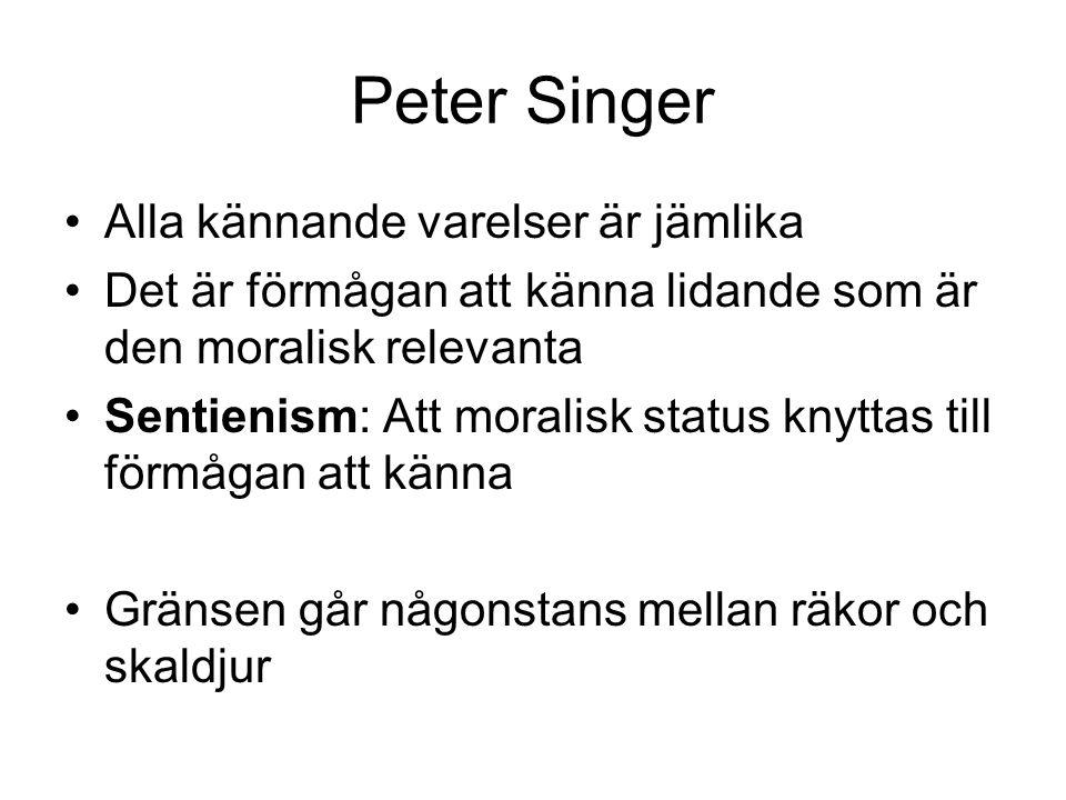 Peter Singer Alla kännande varelser är jämlika