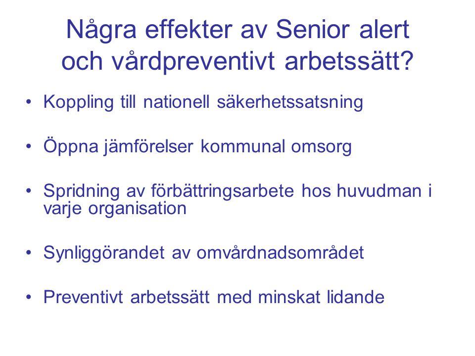 Några effekter av Senior alert och vårdpreventivt arbetssätt