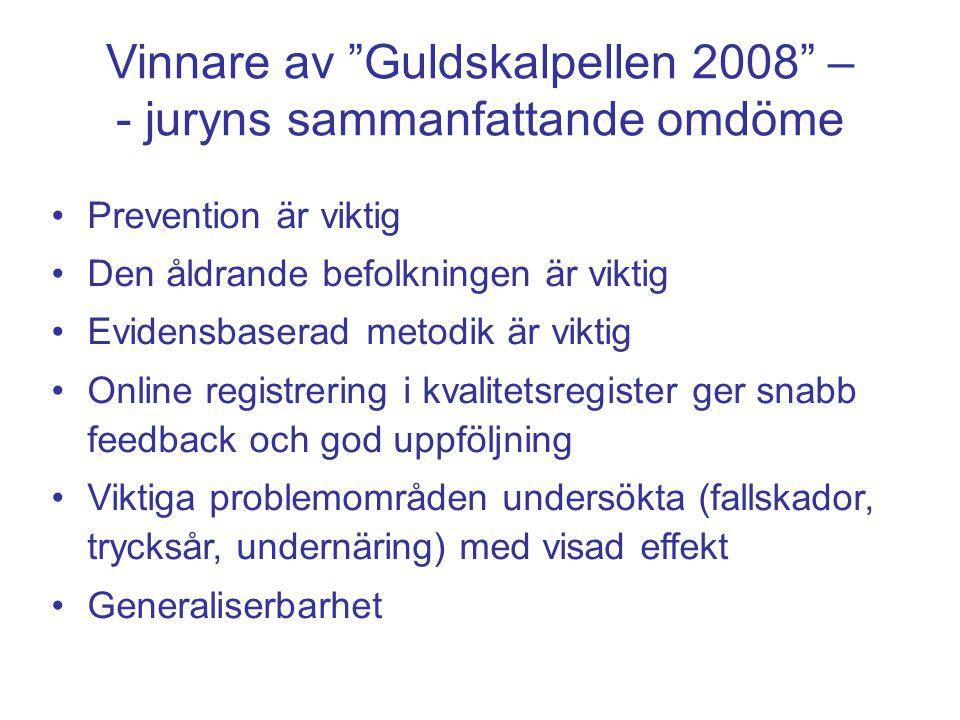 Vinnare av Guldskalpellen 2008 – - juryns sammanfattande omdöme