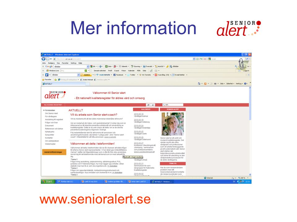 Mer information www.senioralert.se