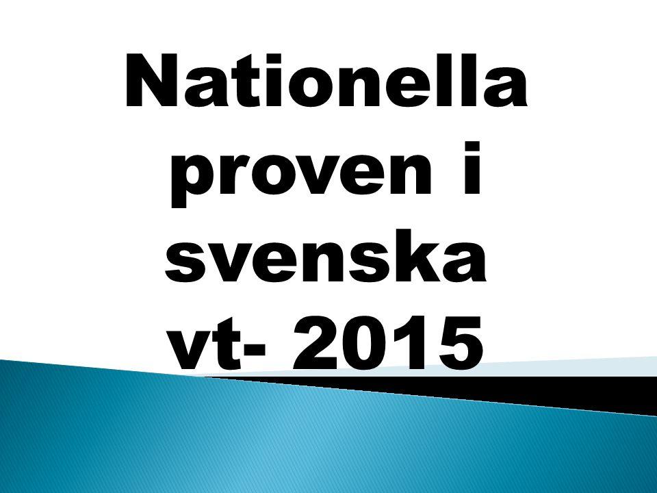Nationella proven i svenska