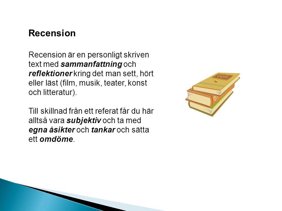 Recension