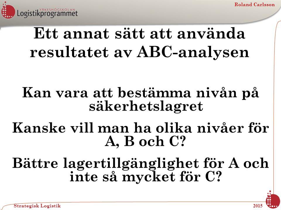 Ett annat sätt att använda resultatet av ABC-analysen