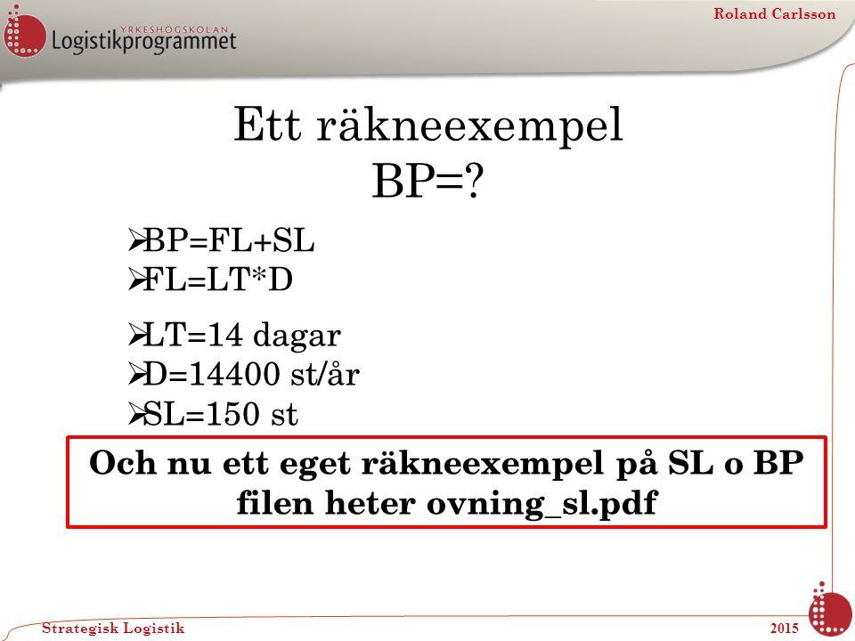 Och nu ett eget räkneexempel på SL o BP filen heter ovning_sl.pdf