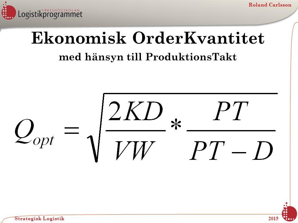 Ekonomisk OrderKvantitet med hänsyn till ProduktionsTakt