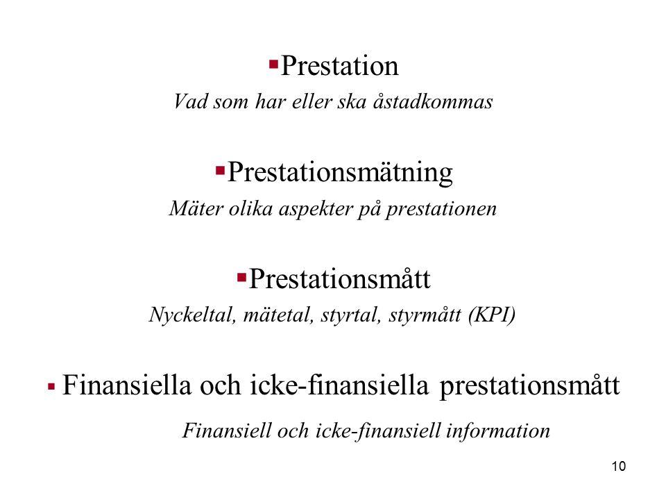 Finansiell och icke-finansiell information