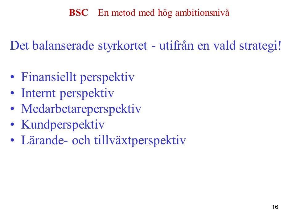 BSC En metod med hög ambitionsnivå