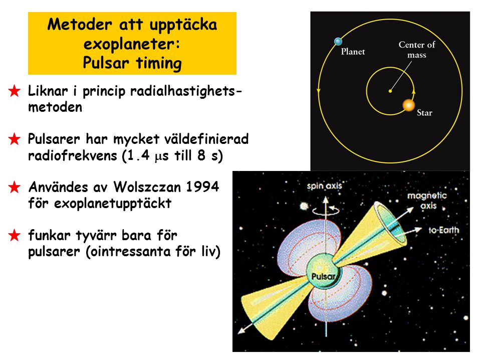 Metoder att upptäcka exoplaneter: Pulsar timing