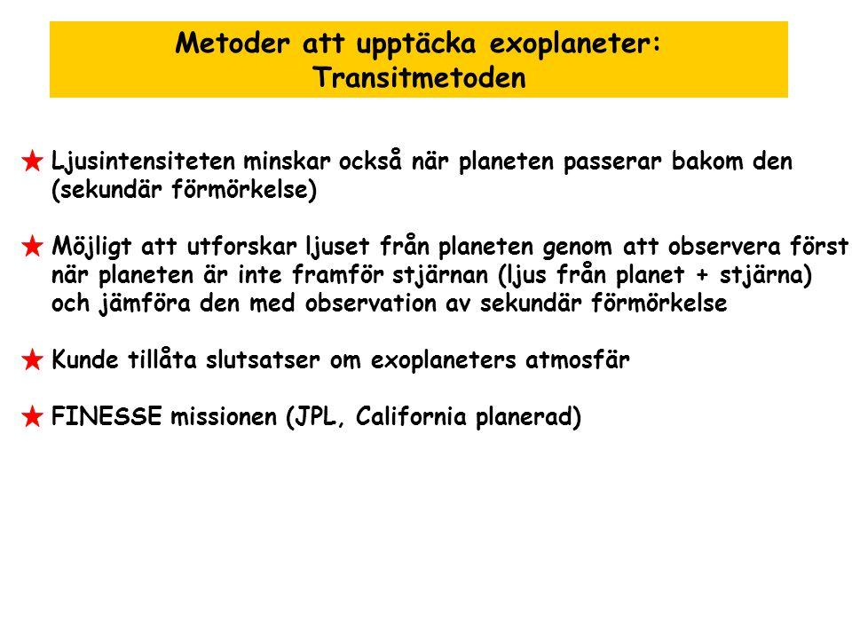 Metoder att upptäcka exoplaneter: