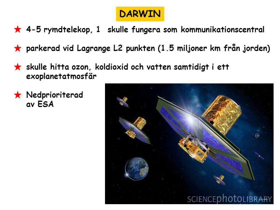 DARWIN 4-5 rymdtelekop, 1 skulle fungera som kommunikationscentral