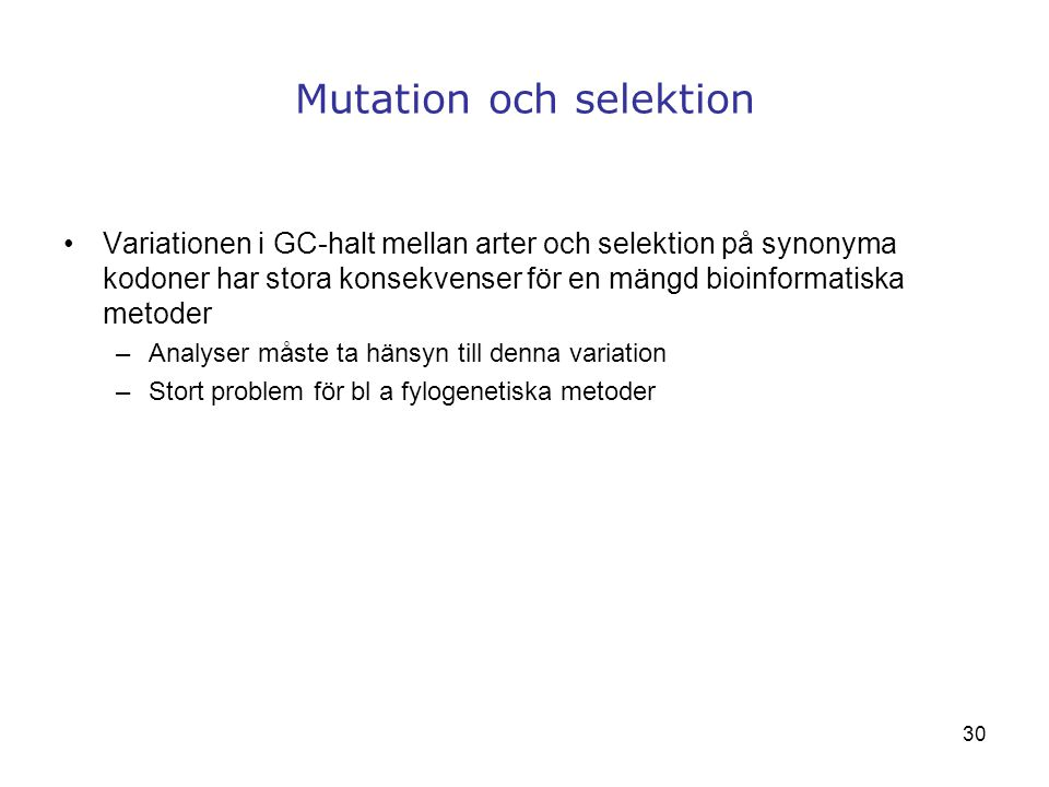Mutation och selektion
