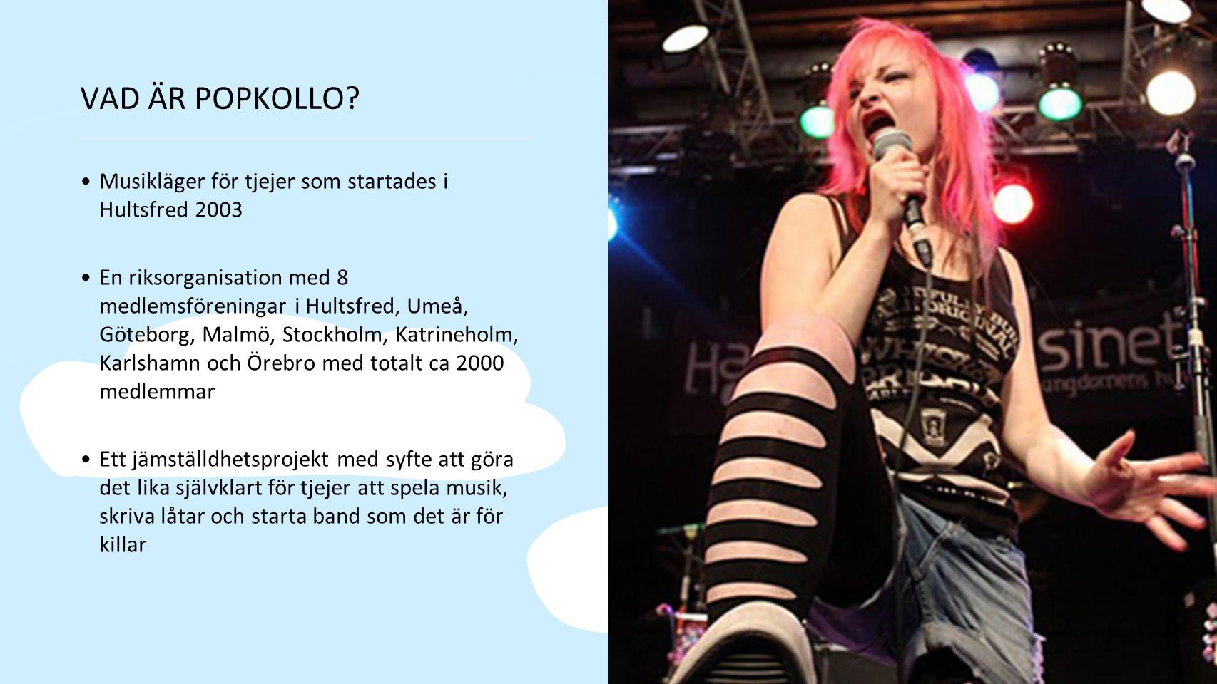 VAD ÄR POPKOLLO Musikläger för tjejer som startades i Hultsfred 2003