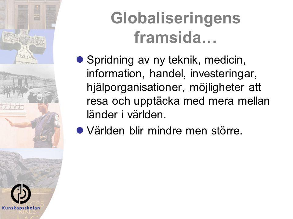 Globaliseringens framsida…