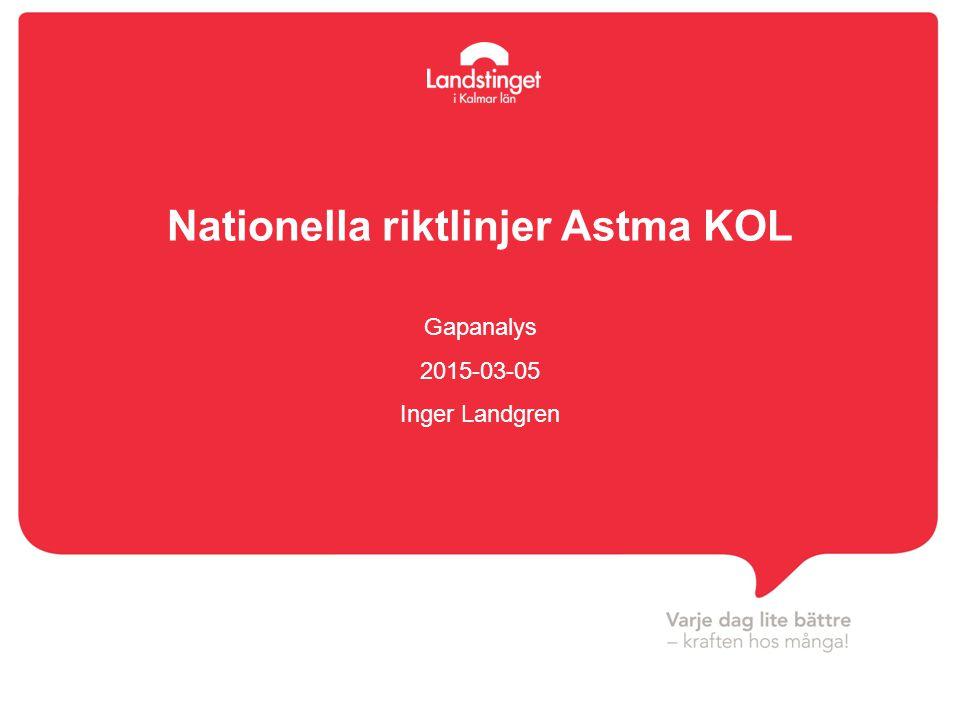 Nationella riktlinjer Astma KOL