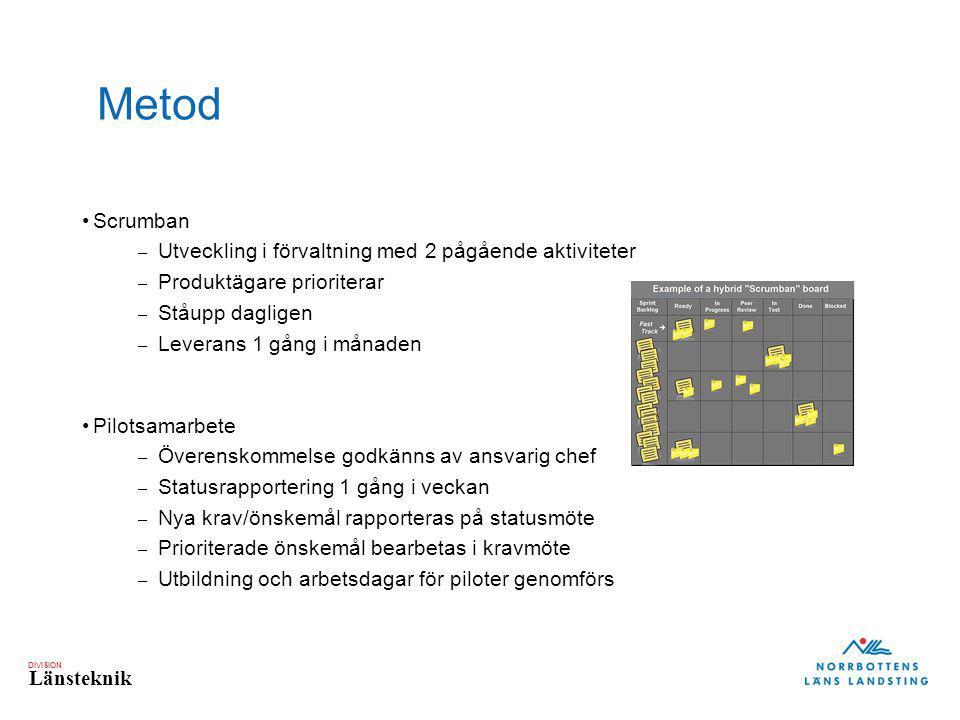 Metod Scrumban Utveckling i förvaltning med 2 pågående aktiviteter