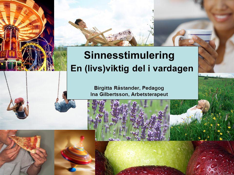 Sinnesstimulering En (livs)viktig del i vardagen Birgitta Råstander, Pedagog Ina Gilbertsson, Arbetsterapeut