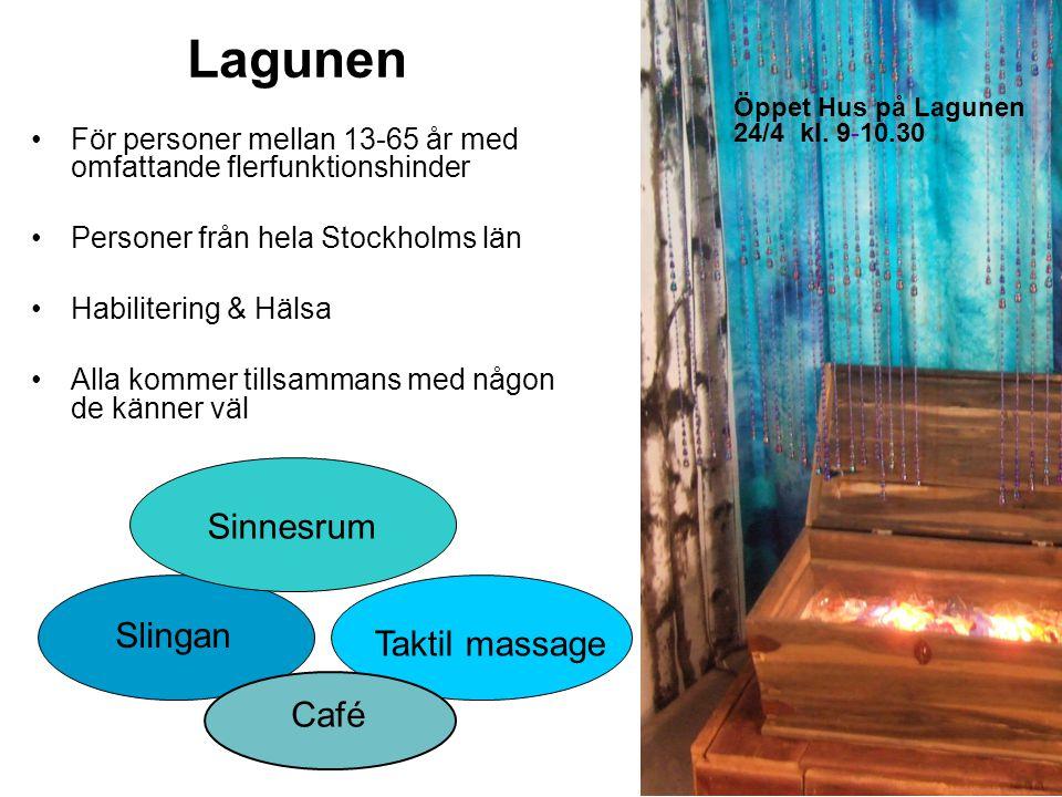 Lagunen Sinnesrum Slingan Taktil massage Café