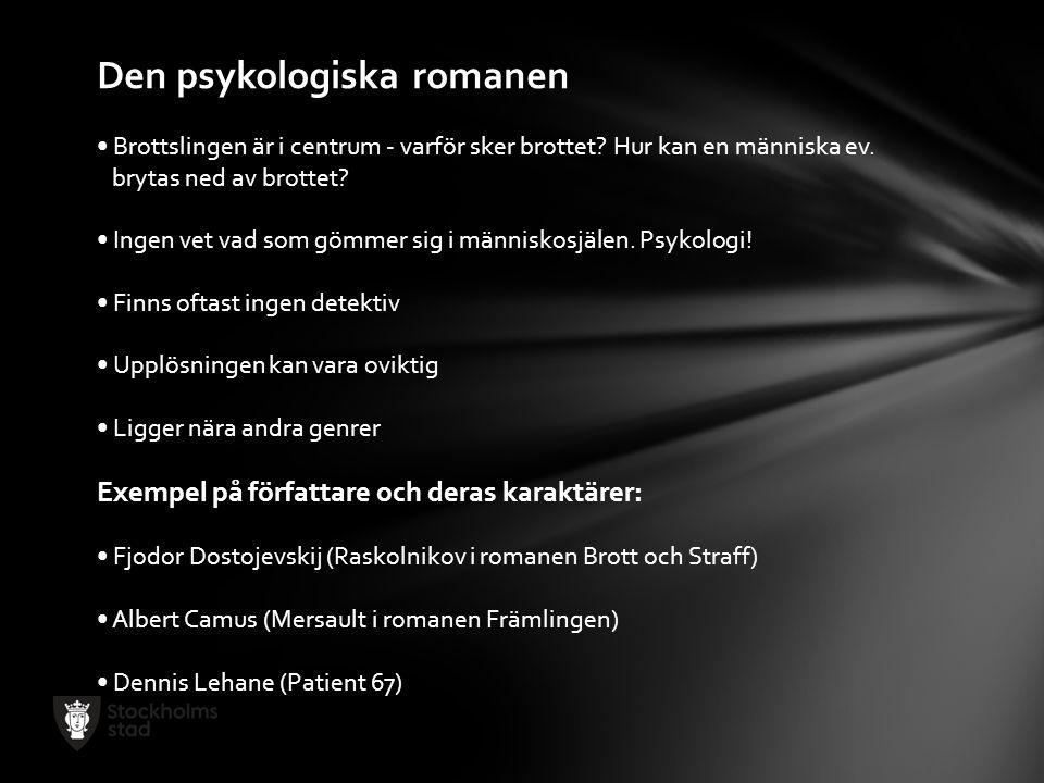 Den psykologiska romanen