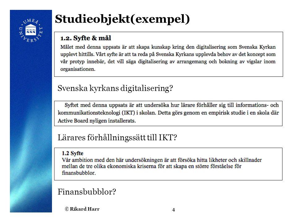 Studieobjekt(exempel)