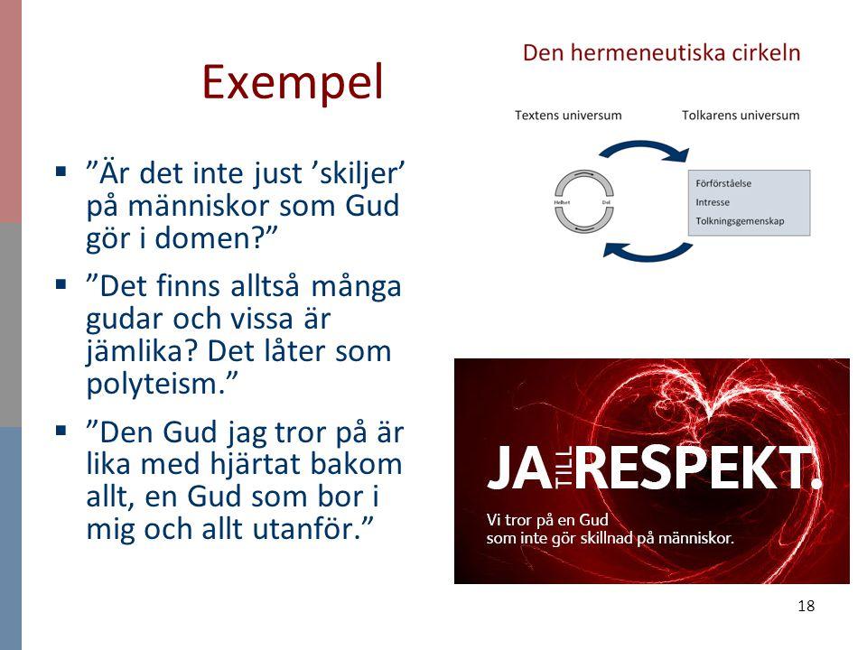 Exempel Är det inte just 'skiljer' på människor som Gud gör i domen