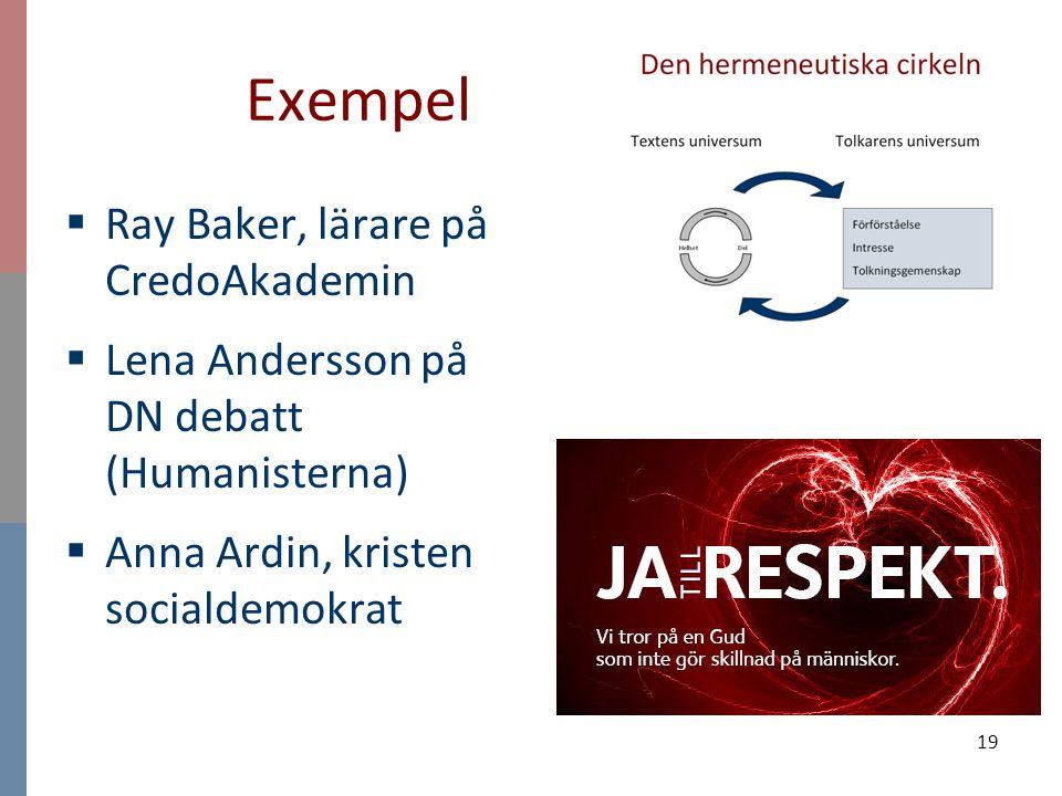 Exempel Ray Baker, lärare på CredoAkademin