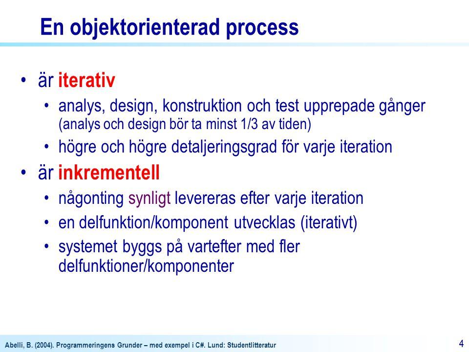 En objektorienterad process
