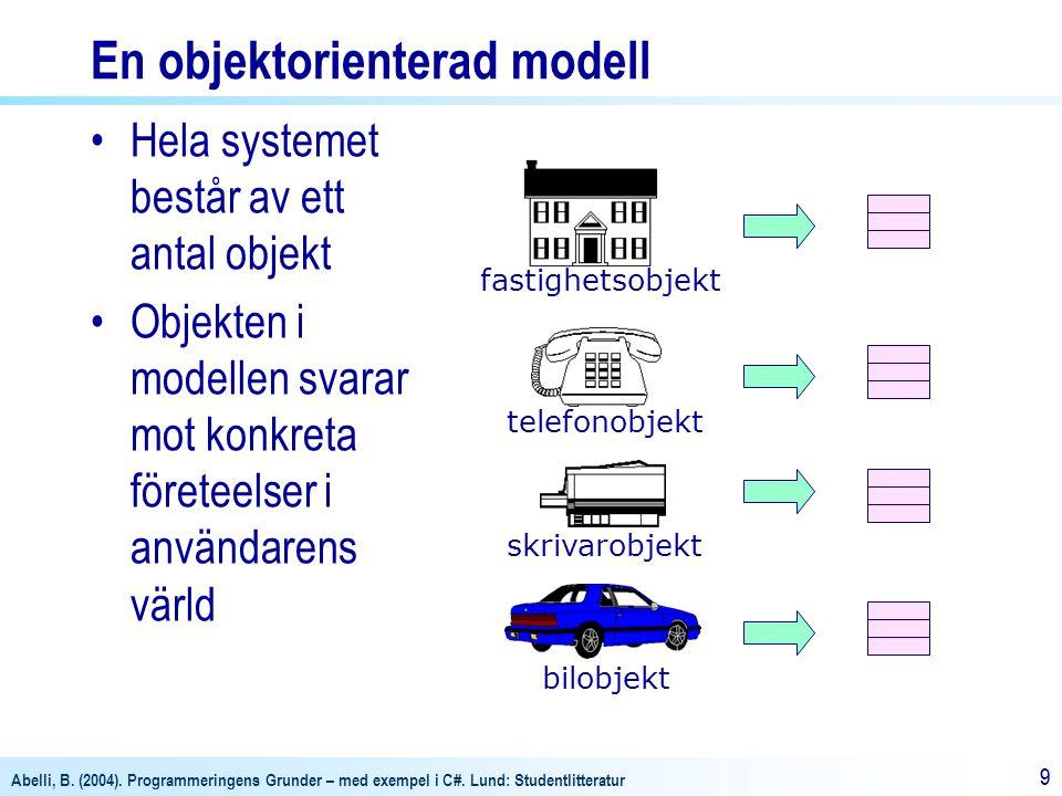 En objektorienterad modell