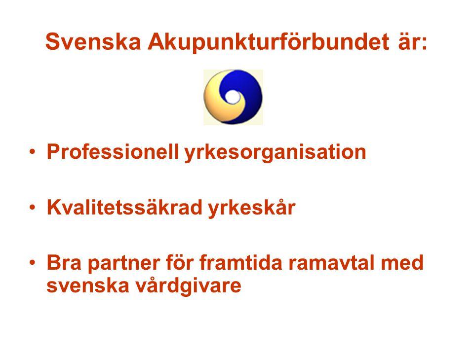 Svenska Akupunkturförbundet är: