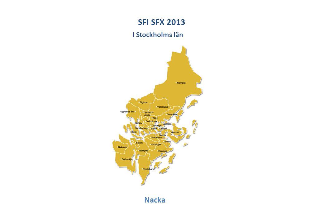 SFI SFX 2013 I Stockholms län Nacka