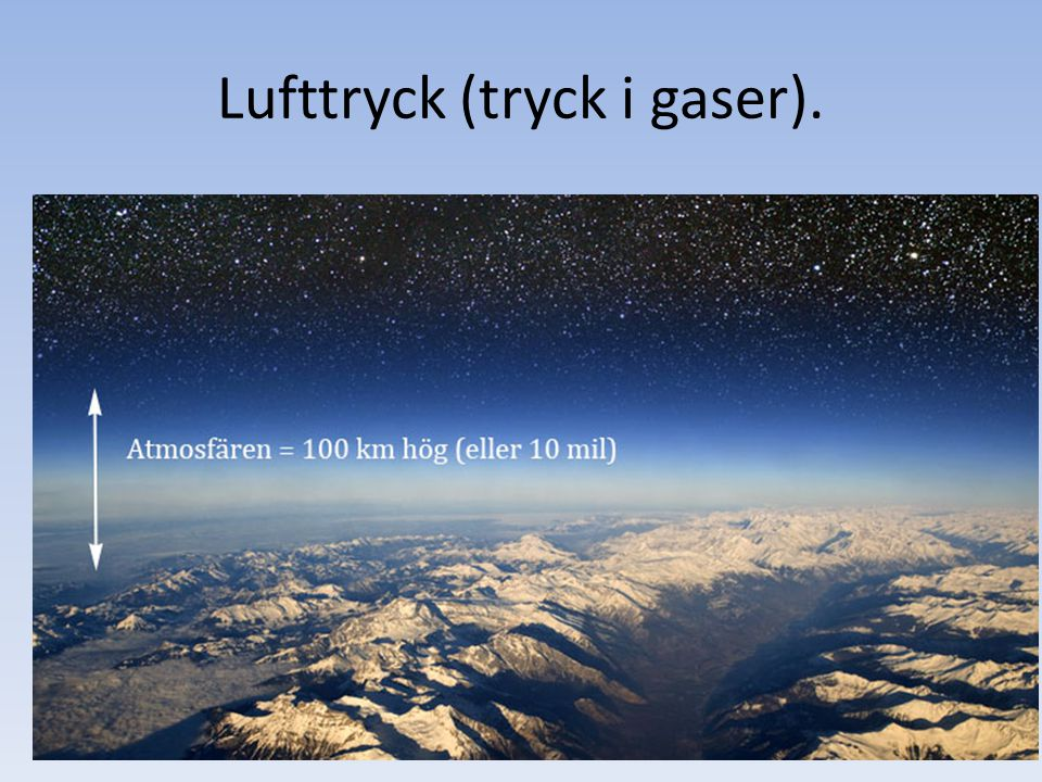 Lufttryck (tryck i gaser).