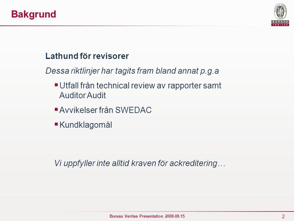 Bakgrund Lathund för revisorer